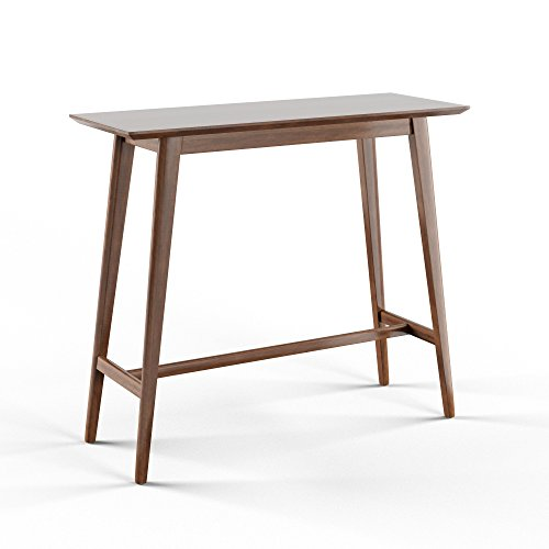 Mid-Century Modern Rectangular Wood Bar Table (Brown) ()