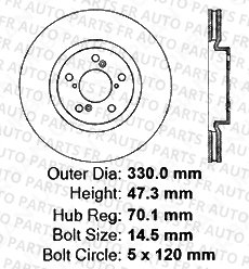 4 Silver Coated Cross-Drilled Disc Brake Rotors 8 Ceramic Pads Fits:- MDX ZDX Front+Rear Kit Heavy Tough-Series 5lug
