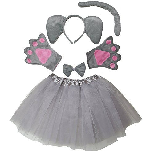 Kirei Sui Kids Elephant Costume Tutu Set Gray]()