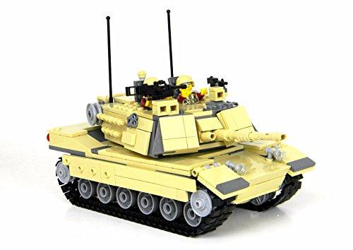 Expert M1a2 Abrams Main Battle Tank - Battle Brick Custom Set