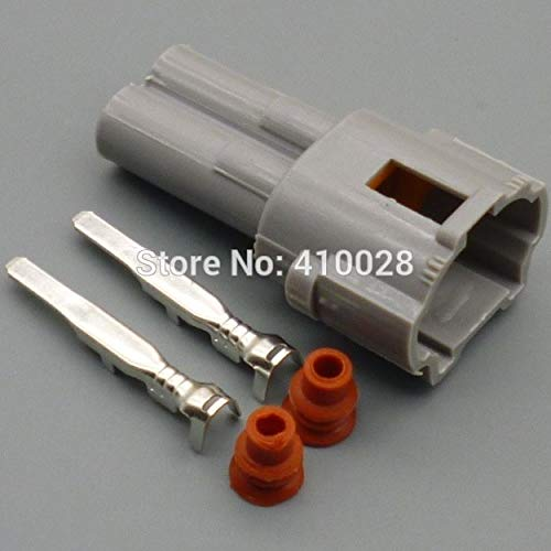 Davitu 2 Pin/way 2.0mm Auto connector,Car Waterproof onnector Male&Female kit 6187-2311 6180-2321 - (Color Name: 100set male)
