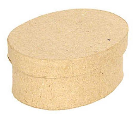 Small Oval Paper Mache Boxes with Lids - Package of 12 Boxes ()