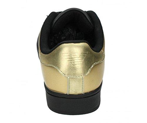 Calzado deportivo para hombre, color Blanco , marca ARMANI JEANS, modelo Calzado Deportivo Para Hombre ARMANI JEANS B6565 Blanco Negro - negro