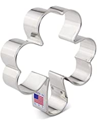 St. Patrick's Day Irish Shamrock Cookie Cutter - Ann Clark - 4 Inch - US Tin Plated Steel