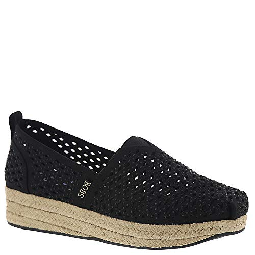 Skechers Women's BOBS Highlights - Glamsquad Flat, Black 11 M US