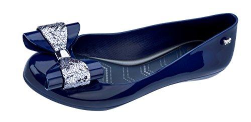 Zaxy Pop de Bombas del Las Mujeres Glam Navy Ballet Zapatos r7wqrad