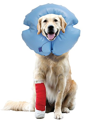 Remedy + Recovery Stay Rite Xtra Strong Inflatable Recovery Dog Collar, Large, Blue