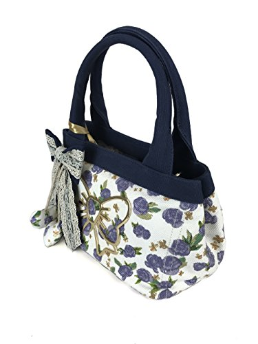 Atelier Fixdesign Canvas Shopping Bag FC7000 Lavender Flowers