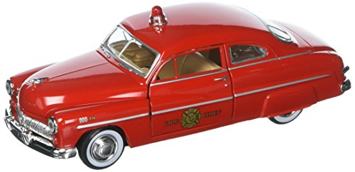 Motor Max 1:24 W/B American Classics 1949 Mercury Coupe Fire Chief Diecast Vehicle