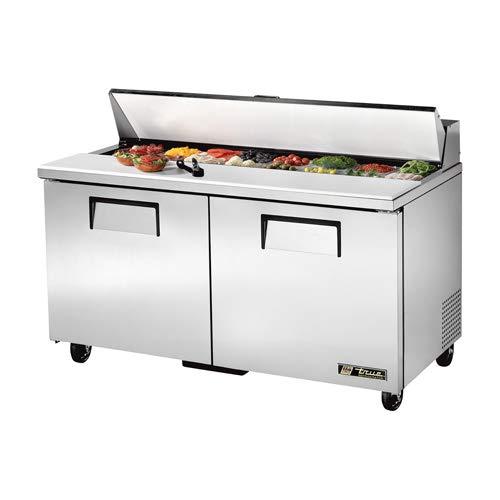 True TSSU-60-16 Sandwich/Salad Prep Table for 16 Pans - Two Door, 60
