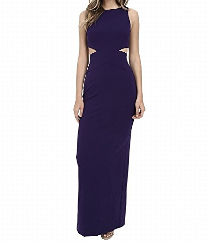 Nicole Miller Navy Women's Cutout Evening Prom Gown Blue 2
