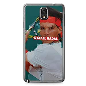 Rafael Nadal Samsung Note 3 Transparent Edge Case - Heroes Collection