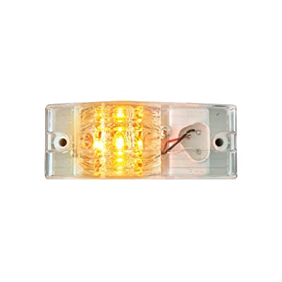 Grand General 78601 Amber Spyder 9-LED Side Mount Maker and Turn Sealed Light with Clear Lens: Automotive