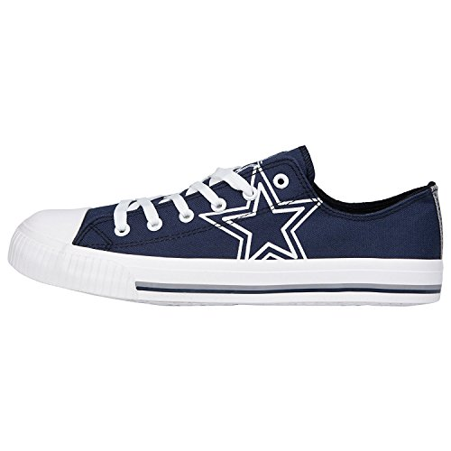 FOCO NFL Dallas Cowboys Men's Low Top Big Logo Canvas Footwear, Team Color, X-Large