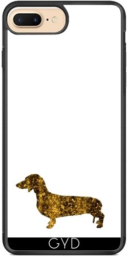 Coque Silicone pour Iphone 7 Plus / 8 Plus - I Aime Mon Teckel by UtArt