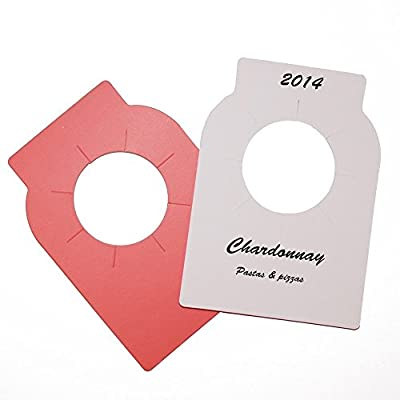 Dual-Colored Wine Bottle Tags for Wine Racks and Cellars (pack of 100)