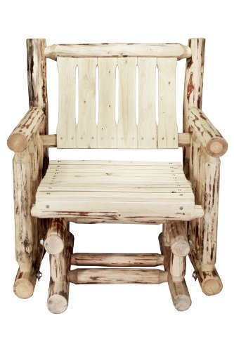 Montana Woodworks Montana Collection Single Seat Glider, Ready to - Rocker Collection Glider