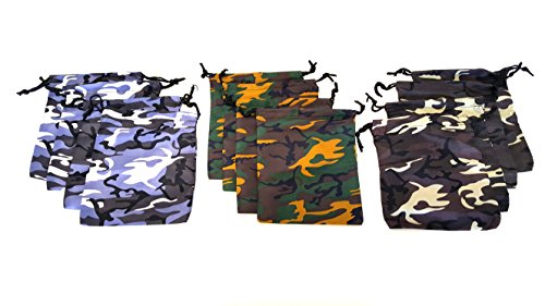 Dondor' Camouflage Drawstring Bags (24 Pack) -