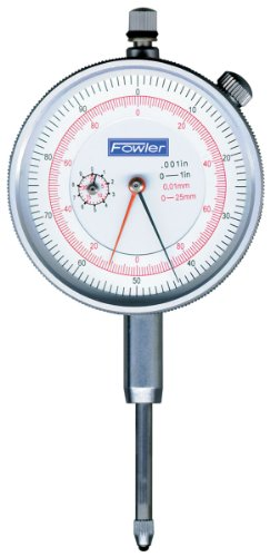 Fowler 52-530-110 Inch/Metric Dial Indicator White Face, 1