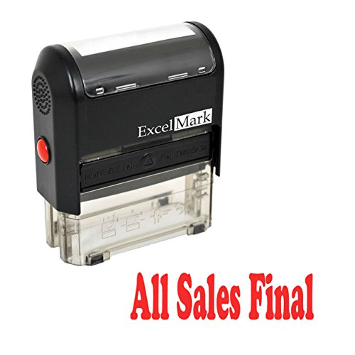 ALL SALES FINAL Self Inking Rubber Stamp - Red Ink