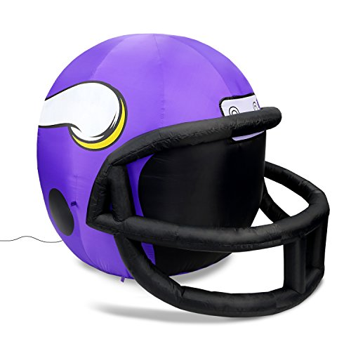 NFL Minnesota Vikings Team Inflatable Lawn Helmet, Purple, One Size