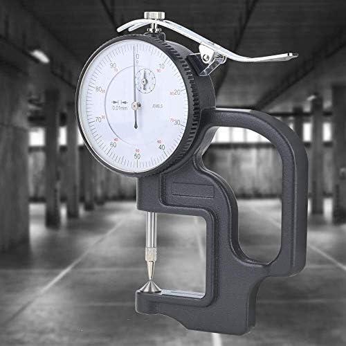 LKK-KK Dial Thickness Meter Gauge, Plastic Casing 0-10mm Thickness Dial Test Indicator 0.01mm Dial Scale Gauge Measure Tool
