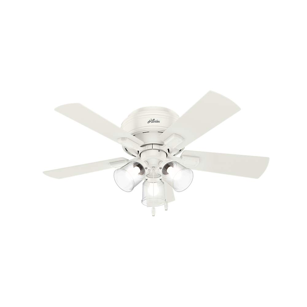 Hunter Fan Company 52152 Hunter 42'' Crestfield Fresh White LED Light Ceiling Fan