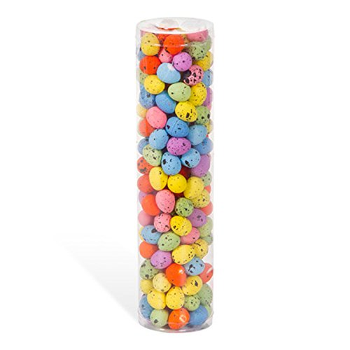 Artificial Assorted Colorful Pastel Spotted Miniature Foam Eggs for Easter Baskets, Crafts, and Displays