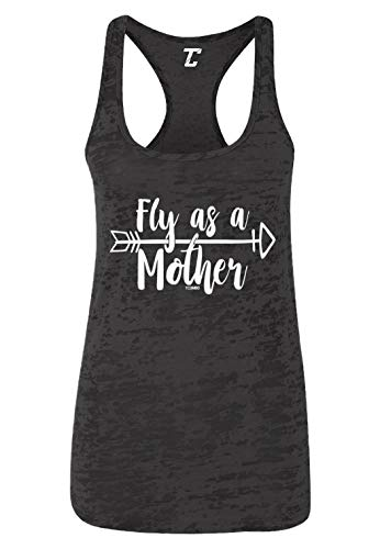 Fly As A Mother - Mom Mama Day Women's Racerback Tank Top (Black, Large)