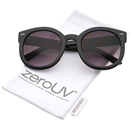 zeroUV - Womens Plastic Sunglasses Oversized Retro Style with Metal Rivets (Black Lavender) Plastic Women Sunglasses