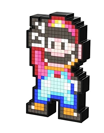 PDP Pixel Pals Nintendo Super Mario World Mario Collectible Lighted Figure, 878-041-NA-SMWM