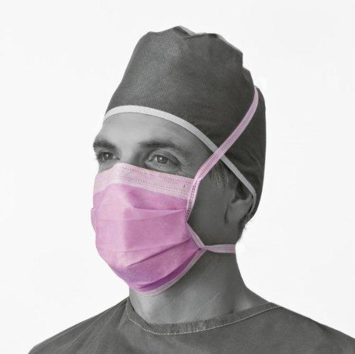 Medline NON27412 Surgical Face Masks, Fluid-Resistant, Latex Free, Purple (Pack of 300) by Medline