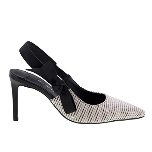 Tony Bianco Evita Womens Heels - with Pointed Toe and a Ribbon Sling Black