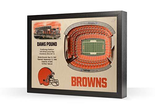 NFL Cleveland Browns 25-Layer Stadiumviews 3D Wall Art