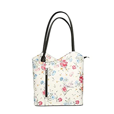 Chicca Borse Woman Shoulder Bag Floral Pattern in Genuine