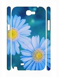 Hybrid Custom Classy Daisy Pattern Durable Plastic Phone Skin Case for Samsung Galaxy Note 2 N7100