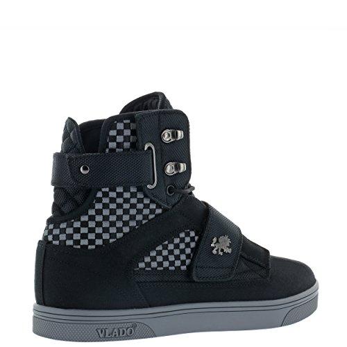 Vlado Footwear Mens Atlas 2 Canvas & Denim Navy / Marrone Sneakers Alte Grigio / Nero