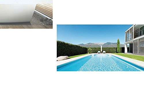 Ylljy00 Decorative Privacy Window Film/Modern Villa with Pool View from The Garden Real Estate Contemporary Property/No-Glue Self Static Cling for Home Bedroom Bathroom Kitchen Office ()