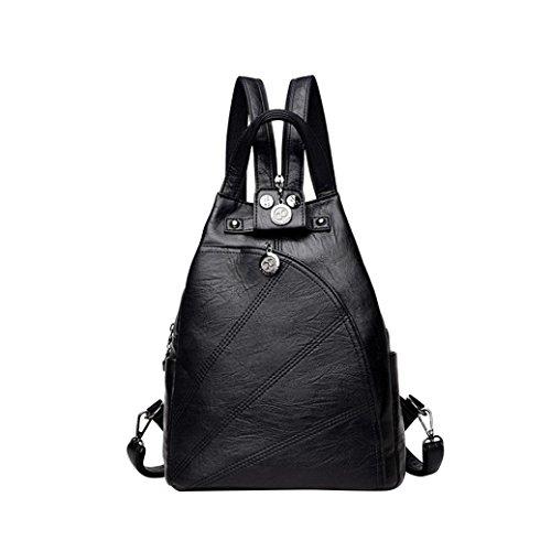 Rucksack Damen, HUIHUI Leisure Backpack Wasserdicht Reiserucksack Outdoor Wanderrucksacke jugendliche mädchen Rucksack (Schwarz) Schwarz
