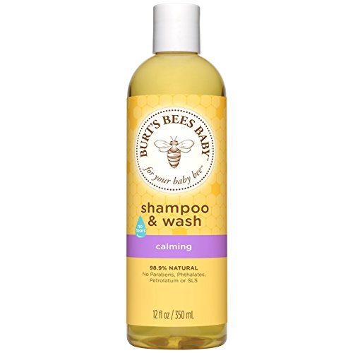 Burt's Bees Baby Shampoo & Wash, Calming, 12 Ounces (Pack of 3) (Calming Lavender Shower)