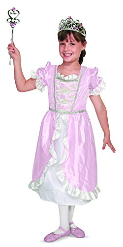 Melissa & Doug Princess Role Play Costume Set (3 pcs)- Pink Gown, Tiara, Wand