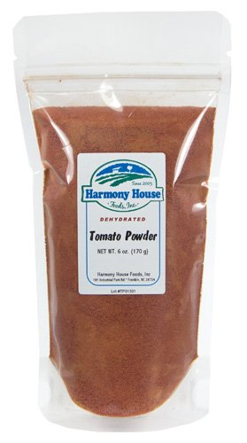 Harmony House Honey - Premium Dehydrated Tomato Powder, 6 oz Size Pouch - From Harvest Red Tomatoes by Harmony House Foods
