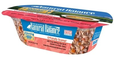 NATURAL BALANCE PET FOODS - O'FISHLLY SCAMPI STW CAT12/2OZ Case DELECTABLE DELIGHTS