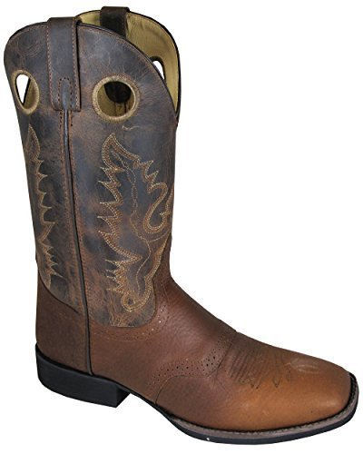 Smoky Mountain Men's Luke Cowboy Boot Square Toe Brown US by Smoky Mountain