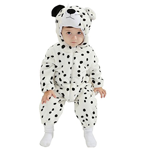 MerryJuly Toddler Unisex-Baby Halloween Costume Animal Onesie Outfit Snow Leopard 100cm/18-24 (Kids Snow Leopard Costumes)