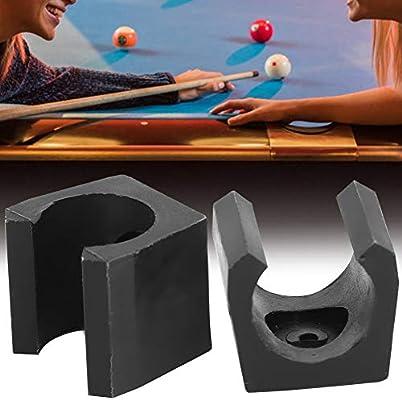 Alomejor Pool Sticks Holder Mini Billar Pool Single Holder Billar de pl/ástico Snooker Cue Locating Clip Holder para Pool Cue Racks Set 10pcs
