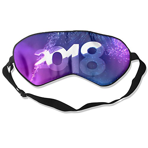 Silk Sleeping Mask Eye New Year Lightweight Soft Adjustable Strap Blindfold For Night's Sleep Nap Travel Eyeshade Men And ()