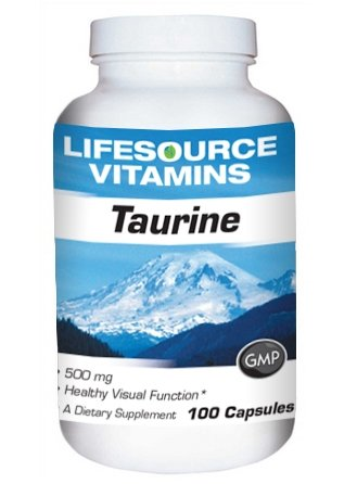 LifeSource Vitamins Taurine 500 mg