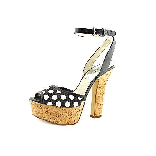 Michael Michael Kors Women's Adria Ankle Strap Black/White Sandal 8 M ()