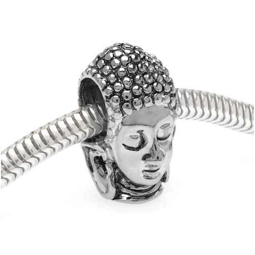 Silver Tone Buddha Head European product image